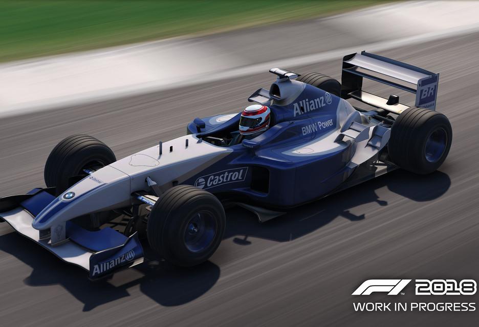 20 klasycznych bolidów w grze F1 2018