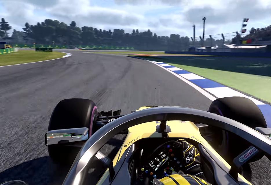 Okrążenie toru Hockenheim w grze F1 2018