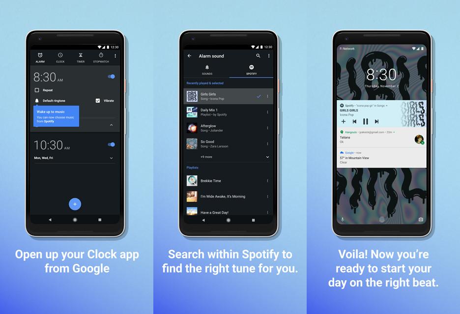 Pobudka przy dźwiękach muzyki ze Spotify - nowość w budziku na Androida