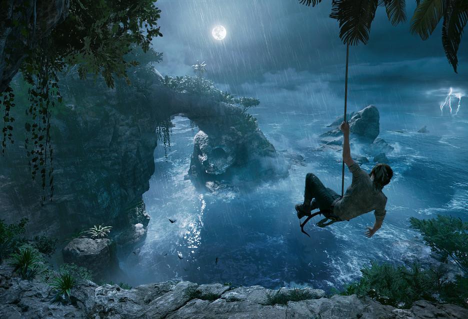 Tak wygląda początek gry Shadow of the Tomb Raider w 4K