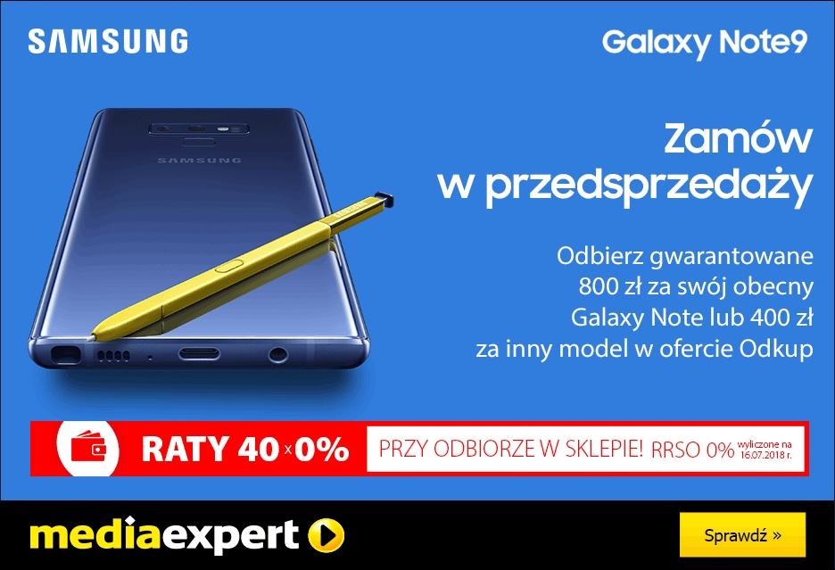 Przedsprzedaż Samsunga Galaxy Note 9 w Media Expert