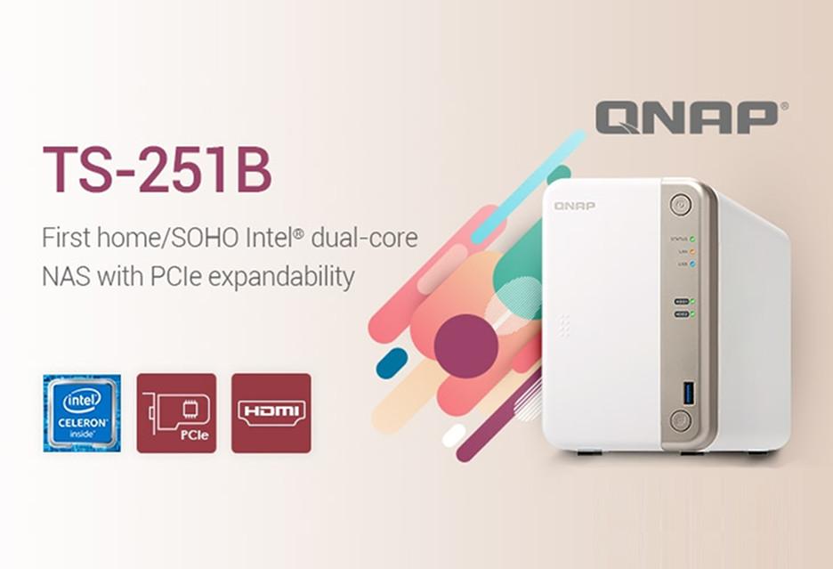 Serwer NAS z PCIe i dwurdzeniowym procesorem - QNAP TS-251B zaprezentowany