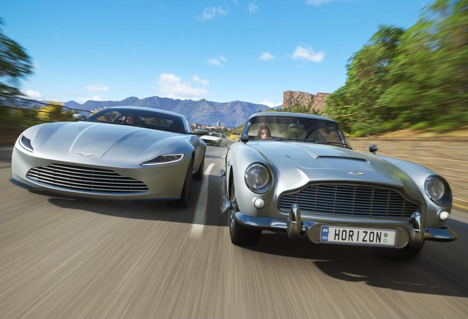 Forza Horizon 4 z samochodami z filmów o Jamesie Bondzie