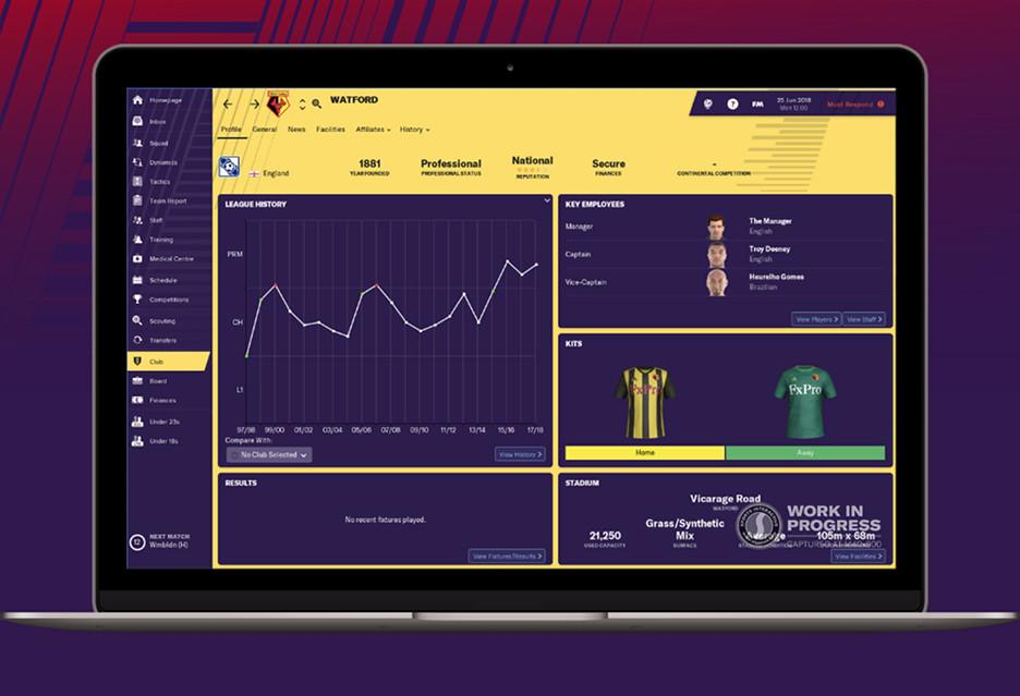 Football Manager 2019 to odświeżony interfejs i mnóstwo nowych opcji