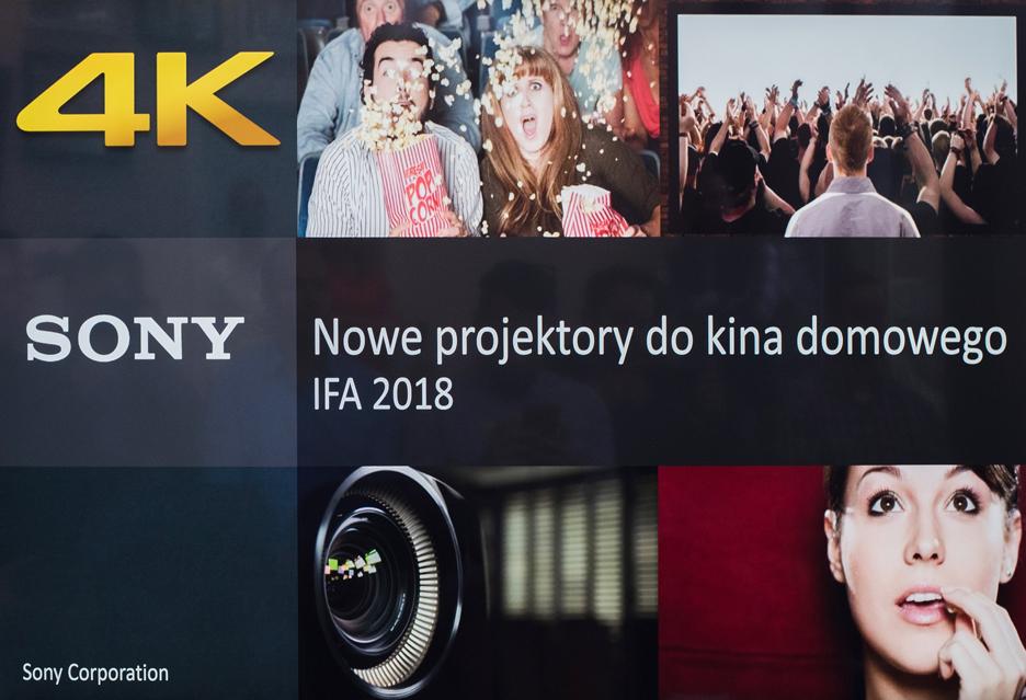 Laserowe (i nie tylko) projektory 4K Sony - kino domowe na bogato