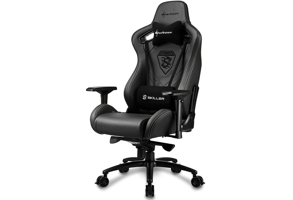 Skórzany fotel dla wymagającego gracza - Sharkoon Skiller SGS5