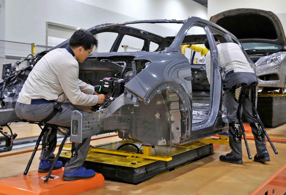 Egzoszkielety dla pracowników Hyundai