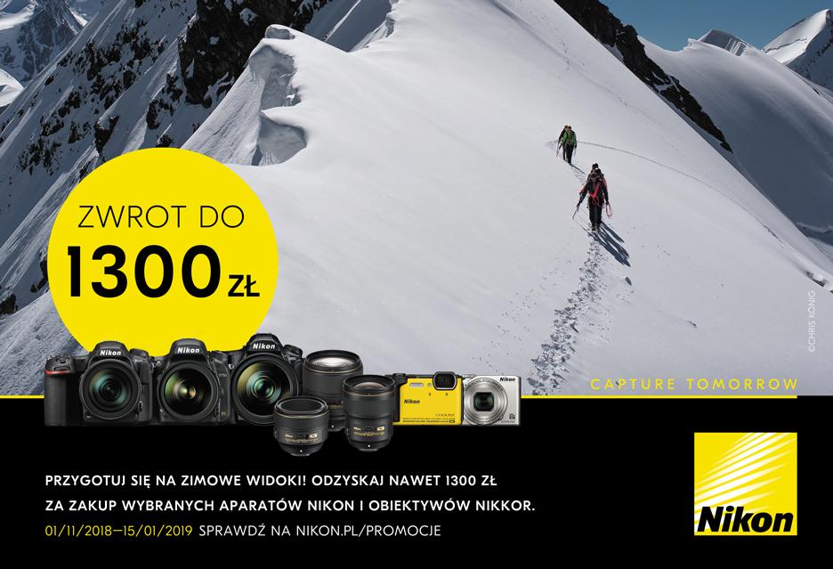 Cashback Nikona to atrakcyjne oferty na kompakty, lustrzanki i obiektywy
