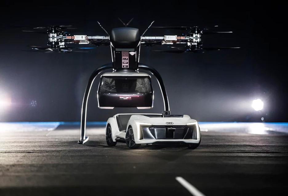 """Przyszłość transportu się przybliża - Audi pokazało """"latający samochód"""" Pop.Up Next"""