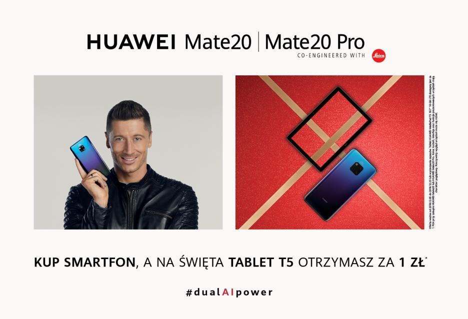 Huawei MediaPad T5 za złotówkę przy zakupie wybranych smartfonów
