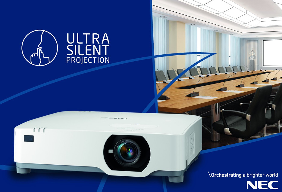 Ultraciche projektory laserowe NEC  P525UL i P525WL