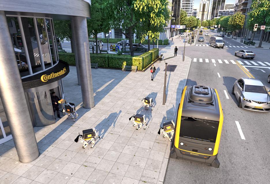 Robot i robociątka, czyli kurierzy 2.0 według Continental
