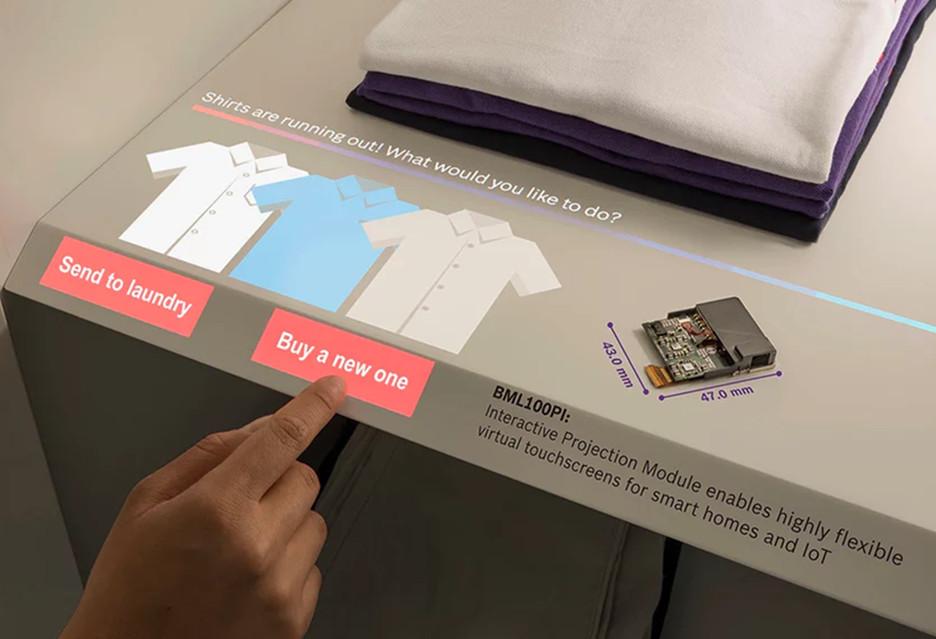Wirtualny panel dotykowy na każdej powierzchni w domu