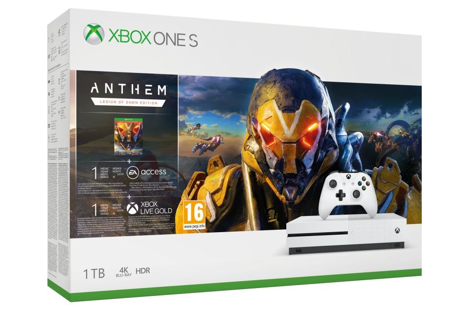Zestaw z konsolą Xbox One S i grą Anthem dostępny na premierę