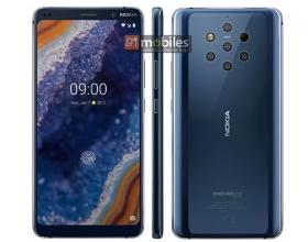 Nokia 9 PureView (i aparat z 5 obiektywami) na renderze prasowym