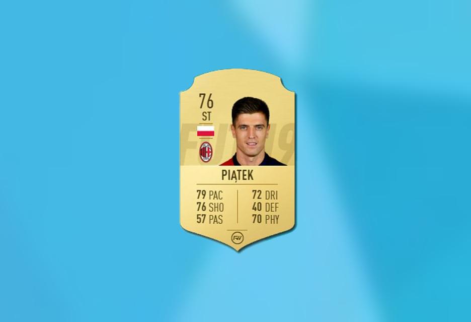 Krzysztof Piątek zyskał 6 punktów w FIFA 19