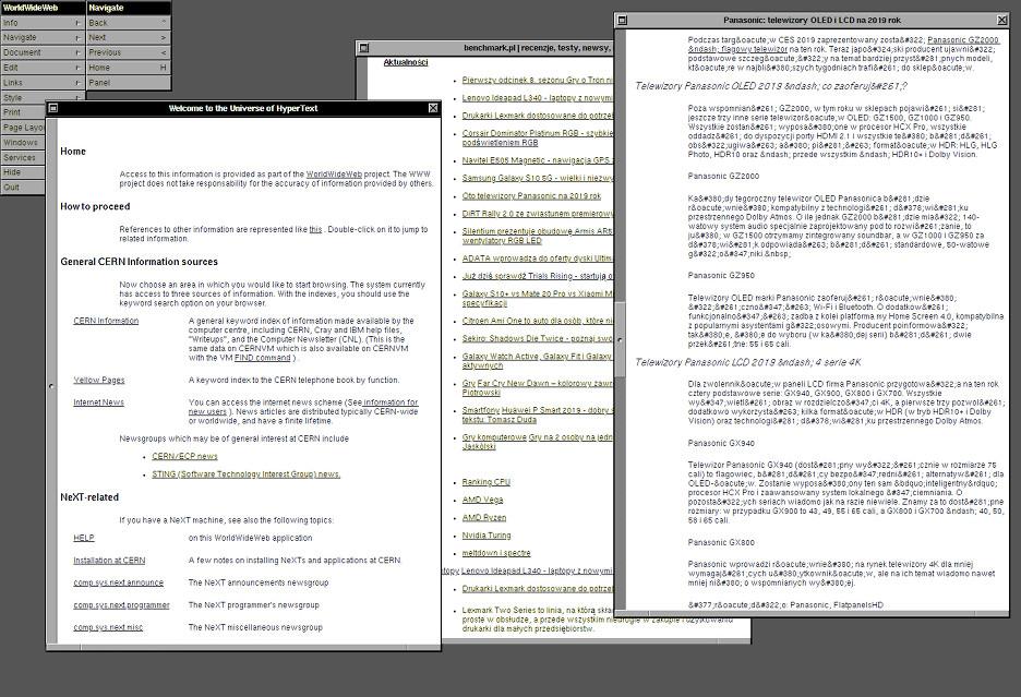 Tak przeglądało się Internet w 1990 roku - przeglądarka WorldWideWeb do sprawdzenia