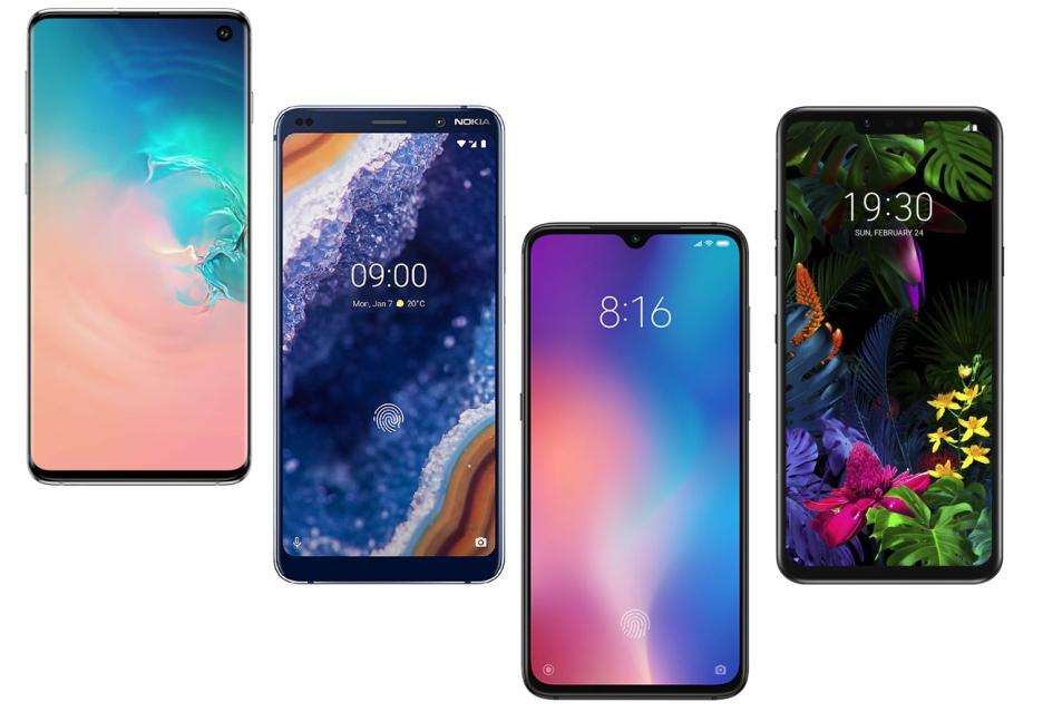 Galaxy S10 vs Nokia 9 PureView vs Xiaomi Mi 9 vs LG G8 ThinQ - porównanie specyfikacji