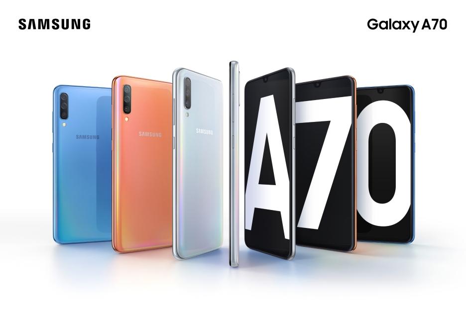 Samsung Galaxy A70 zaprezentowany - ma naprawdę duży wyświetlacz