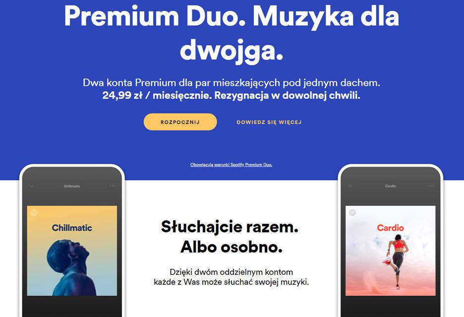 Spotify Premium Duo, czyli ze współlokatorem taniej