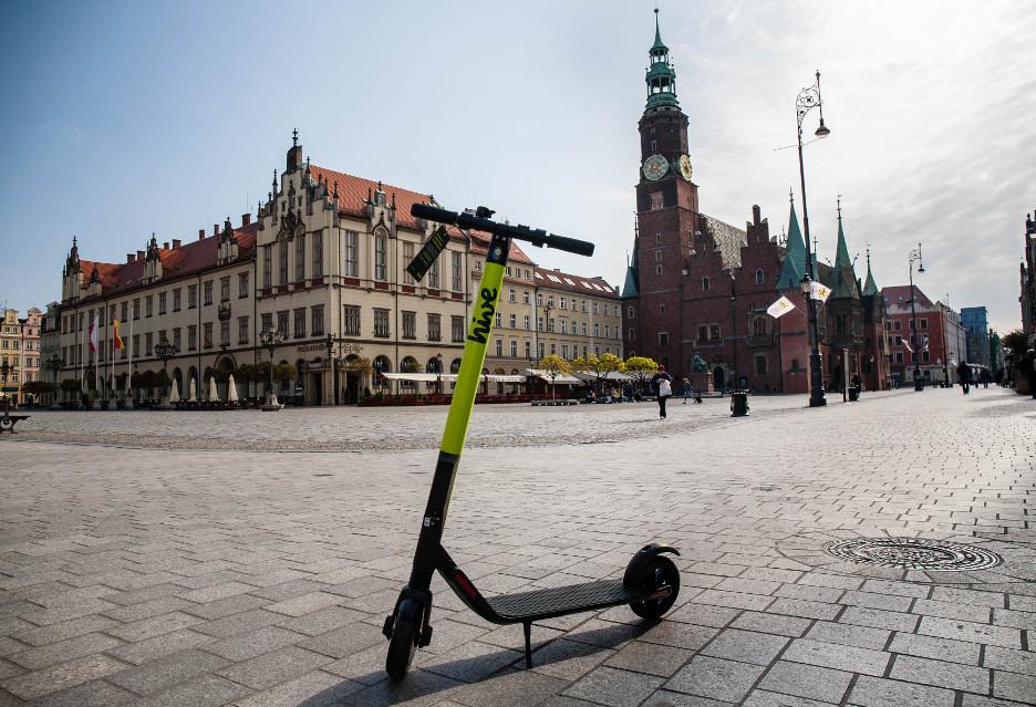hive - elektryczne hulajnogi na minuty we Wrocławiu