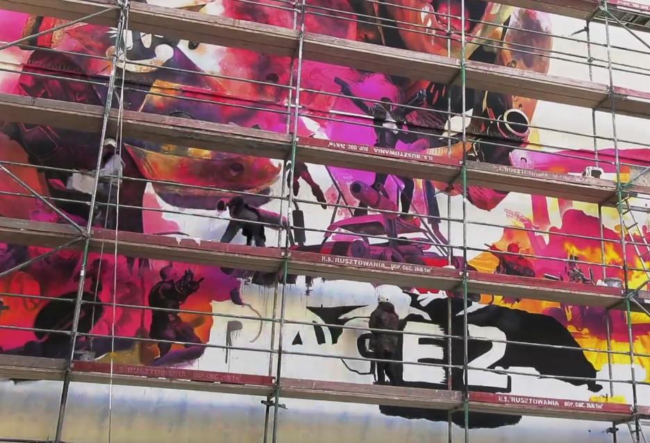 Zobacz jak powstawał mural Rage 2