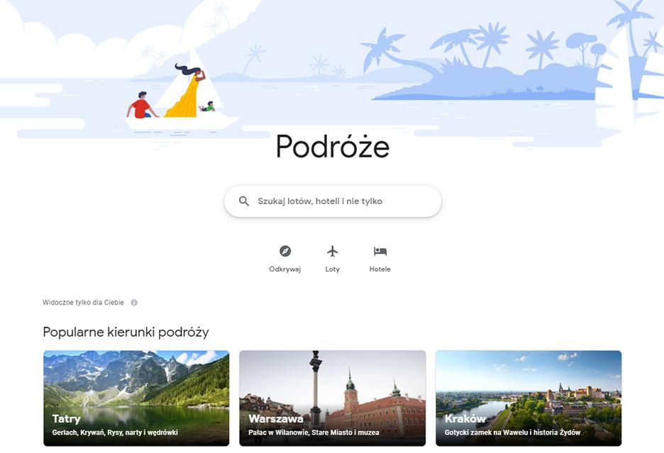 Google Podróże - zaplanuj wyjazd i poznaj atrakcje