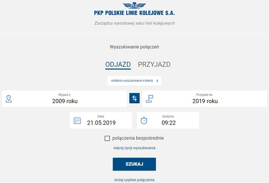 Portal Pasażera - nowa wyszukiwarka połączeń PKP
