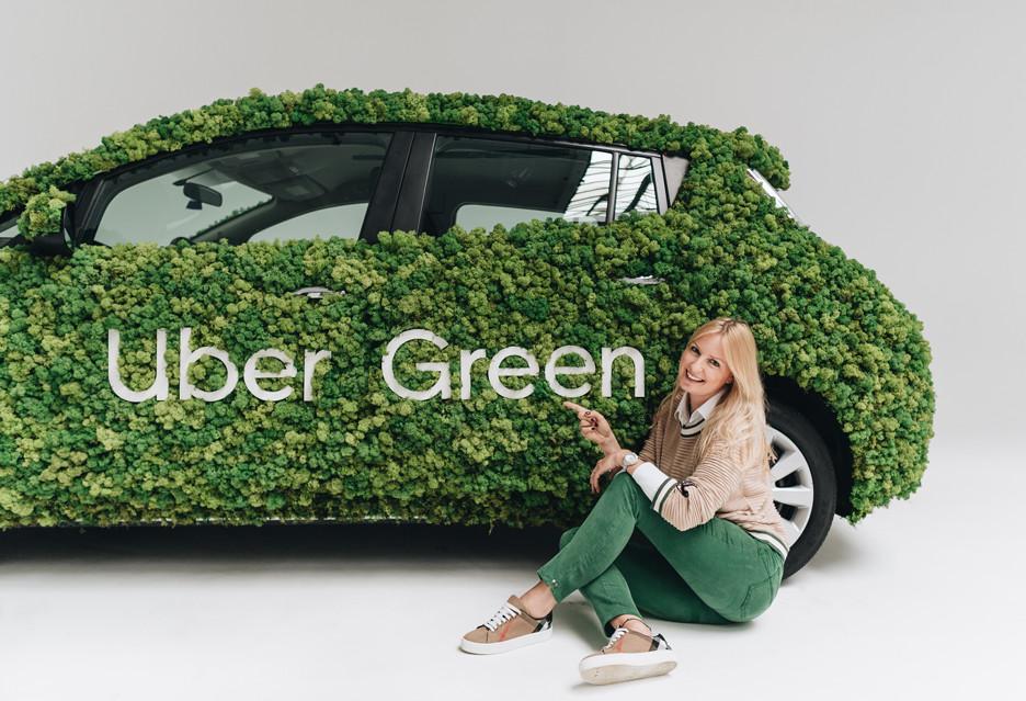 Elektryczne samochody Uber Green w Krakowie