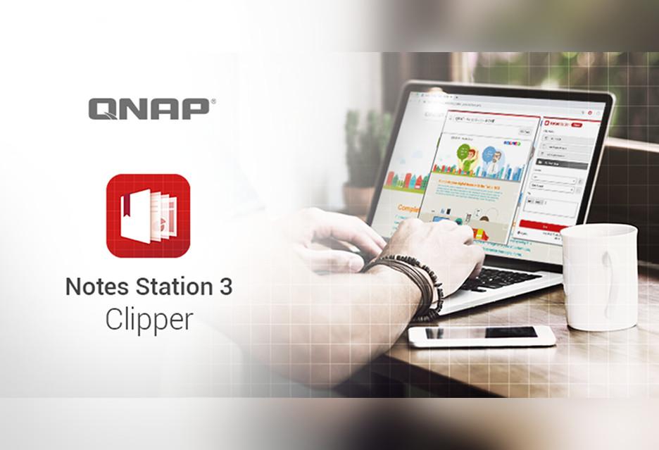 Zapisz strony na NAS-ie, na później - QNAP Notes Station 3 Clipper