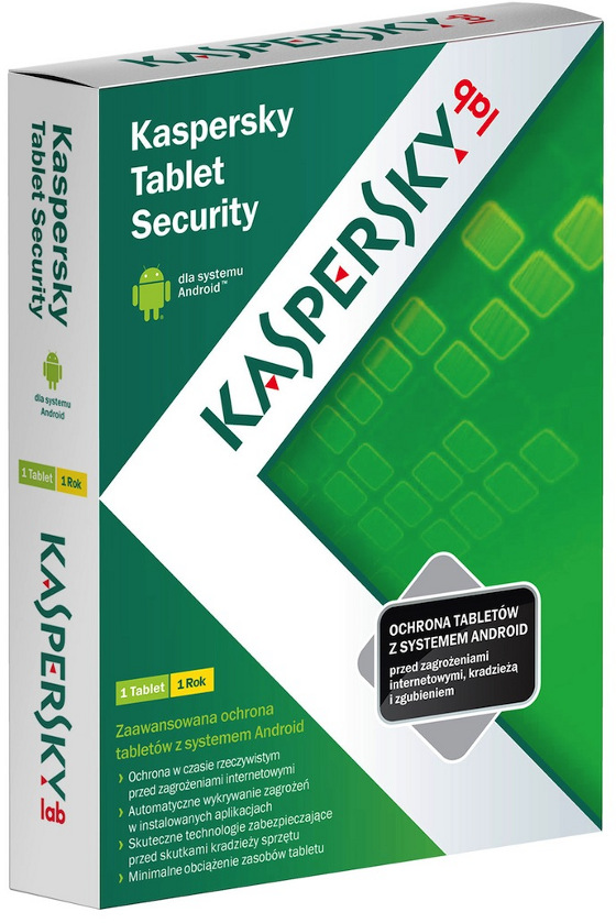 kaspersky lab tablet security pudełko box polska