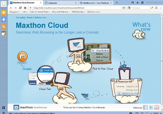 maxthon przeglądarka internetowa wygląd interfejs skórka