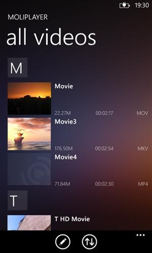 moli player pro wygląd aplikacja wp