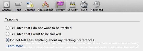 mozilla firefox 21 funkcja do not track nie śledź