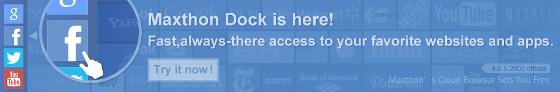 maxthon cloud browser sidebar dock wygląd nowa funkcja