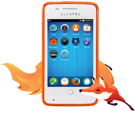 Alcatel One Touch Fire smartfon Firefox