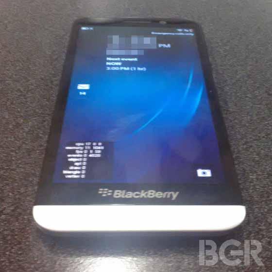 blackberry a10 ariso smartfo wygląd ekran
