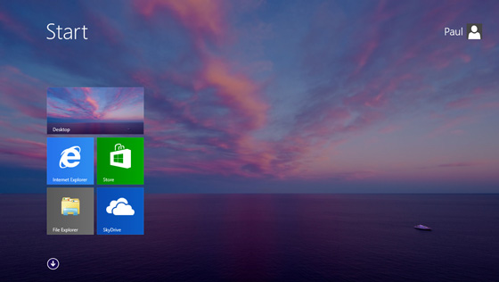 ekran start wygląd windows 8.1 blue