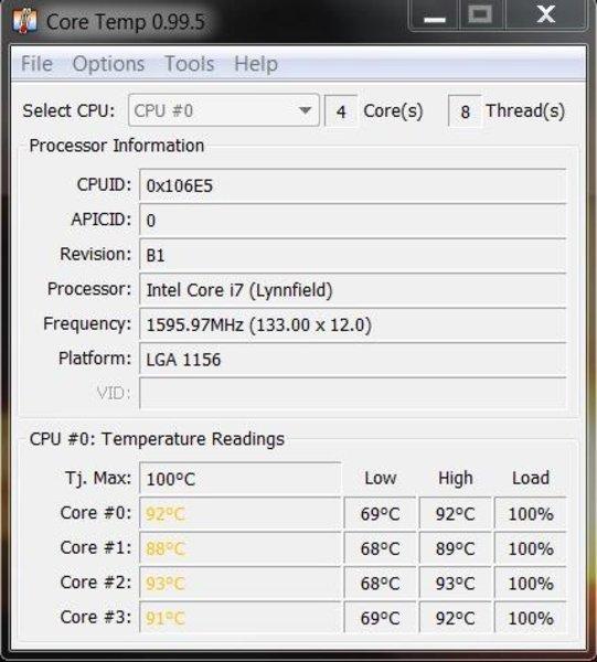 temperatura procesora core temp zbyt wysoka przykłady