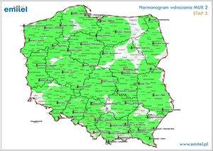 Cyfryzacja MUX-2 mapa