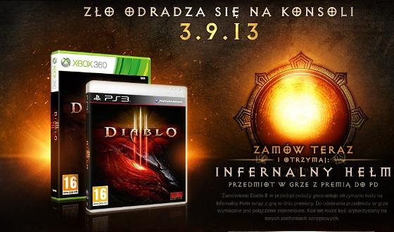 diablo iii premiera konsole xbox 360 playstation 3 wrzesień