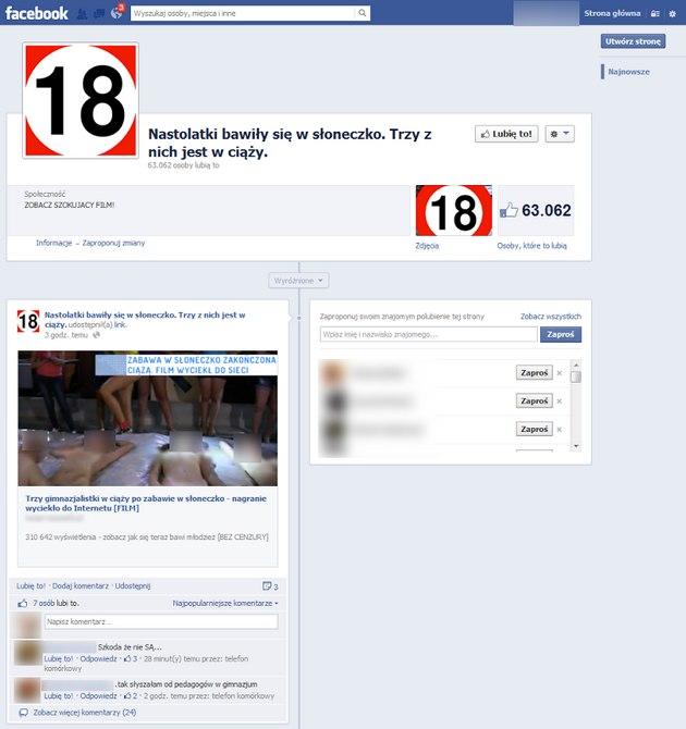 Facebook słoneczko strona