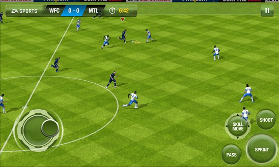 FIFA 13 gra Windows Phone 8 grafika
