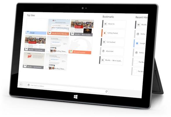 mozilla firefox dla modern ui tablet