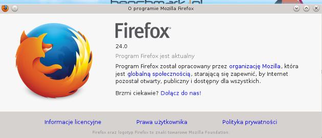 firefox 24 ekran o programie download pobierz