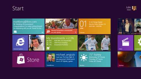 SMSy w Windows 8 build 7989