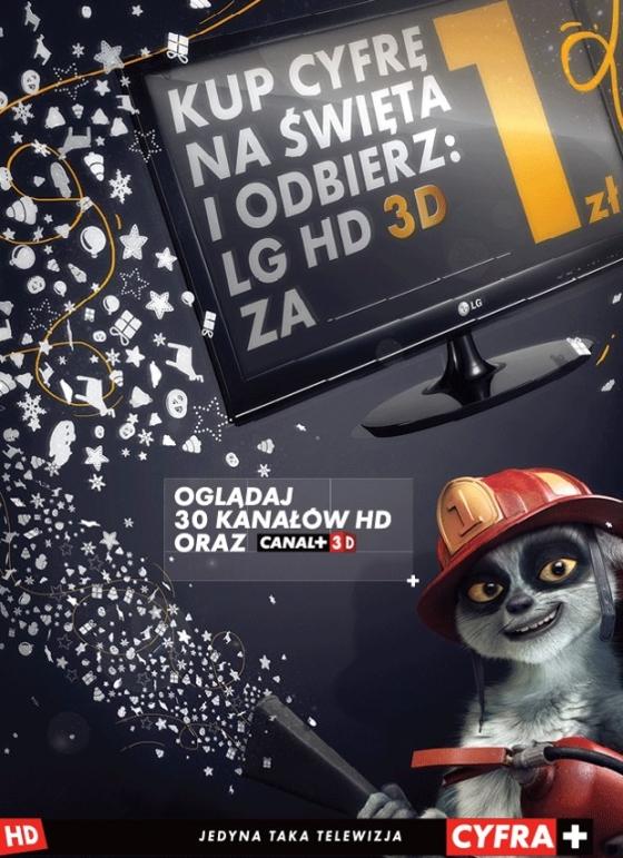 Cyfra Plus promocja z tv 3D LG DM2780D-PZ