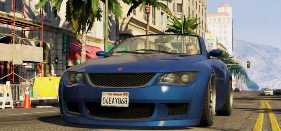 gra GTA V samochód z gameplaya