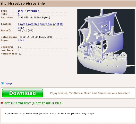 The Pirate Bay - model 3D