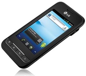 LG Optimus 2 AS680 pod kątem